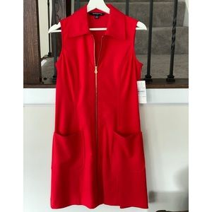 NWT Red Zip Up Dress